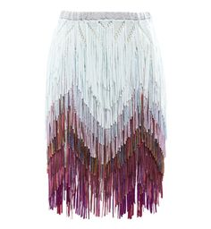 Good idea for sewing Tim Ryan Fine Fringed Knit Skirt - Browns Bohemian Mode, Boho Chic, Look Fashion, Womens Fashion, City Fashion, Skirt Fashion, Mode Kpop, Fringe Fashion, Bubble Skirt