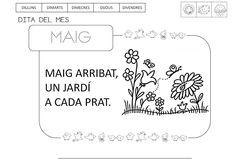 maig arribat un jardi a cada prat - Buscar con Google Pre School, Notebook, Bullet Journal, Valencia, Google, Infant Activities, Languages, Spring