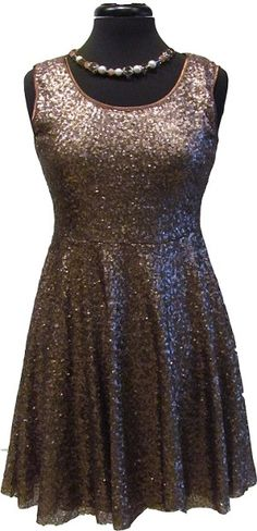 Bronze Sequin Dress with zipper back #pinnaked @Urban Decay