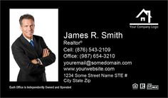 Black Large Size Photo Independent Agency Business Cards