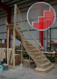 Stairplan C Staircase Staircase Outdoor, Wood Railings For Stairs, Stair Banister, New Staircase, Wooden Staircases, Curved Staircase, Painted Stairs, Wooden Stairs, Stairways