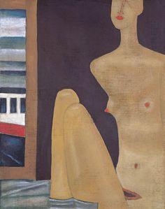 Jerzy Nowosielski - Akt z pejzażem, 1995