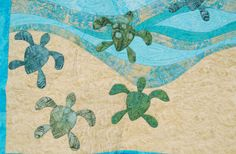 Baby Sea Turtle Quilt Detail Olivia and I talking about sea turtles' eggs today!! 4/28/14