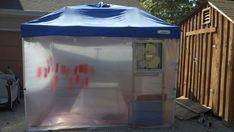 canopy pop up tent turned spray booth Diy Paint Booth, Spray Paint Booth, Instant Tent, Kabine, Pop Up Tent, Garage Workshop, Workshop Ideas, Garage Shop, Tent Camping