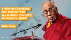 Women's rights are a hot-button topic these days, and it isn't just women who are weighing in with their opinions. From Andy Samberg to the Dalai Lama, male celebs are proving feminism isn't just for females. Mad Men Actors, Award Acceptance Speech, Feminist Men, Feminist Movement, Religion And Politics, Fight Club, Powerful Women, Women Empowerment, Feminism