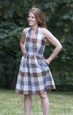 The Rose City Halter Dress Sewing Pattern – Sew House Seven