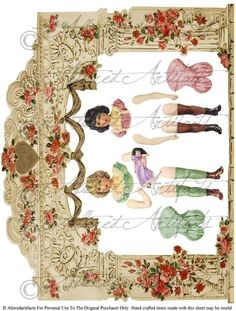 Fairyland Fairyville Fairies Puppet Theater Digital Collage Sheet  Download  Articulated  Paper Doll Paperdoll Model Toy. $3.50, via Etsy.