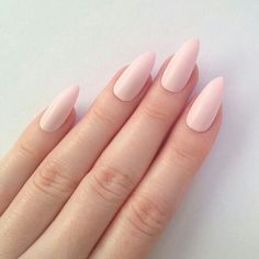 Love the a little point to the nails and the color is so pretty