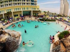 Pensacola Beach Hotel Walking Distance To Everything Best Fl Beachfront Amenities With Lazy River Riptides Grill Mermaids Pirateore