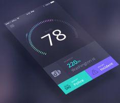 Mobile App Design Inspiration – Speedometer
