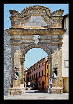 Portus Roma. Main gate into the old portion of San Gemini,province of Terni Umbria - Italy