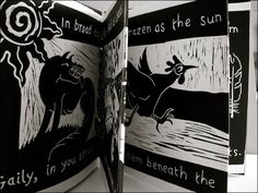 Mavina Baker  Fowl Play, 2009  Concertina book, linocut and digital print