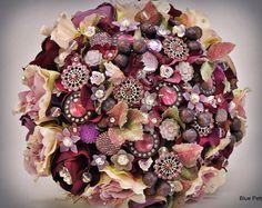 Purple Reign bouquet by Blue Petyl  #wedding #bouquet #broochbouquet #purple