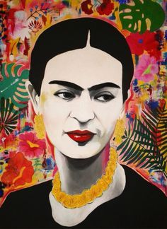 Collage Portrait, Collage Art, Fridah Kahlo, Frida Paintings, Frida Kahlo Portraits, Frida Art, Salon Art, Mexico Art, Mexican Folk Art