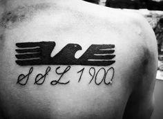 S.S.Lazio 1900! Eagle Tattoo!