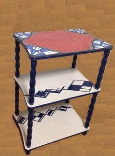 Mosaic side table by Mosaic Tile Works. http://kirasaya.com
