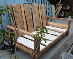 Daybed frame - test run. Trying to figure out if all the pieces were going to fit together.