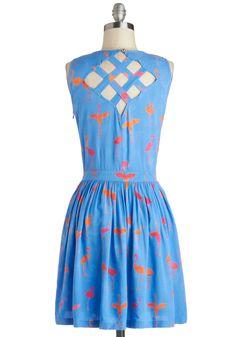 Flamingo for It Dress | Mod Retro Vintage Dresses | ModCloth.com