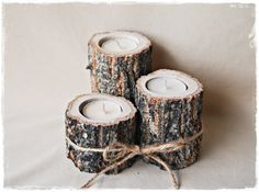 Tree Branch Candle Holders, rustic wedding decor