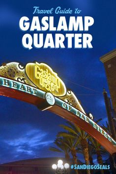 Travel to the heart of downtown San Diego and stroll the brick sidewalks of the charming Gaslamp Quarter. #SanDiegoSeals