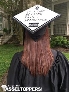 If Youre Reading This Grad Cap Tassel Topper - Tassel Toppers - The Professional Way to Decorate Your Grad Cap - 1