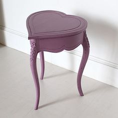 Heart Shaped Side Table With Lifting Lid