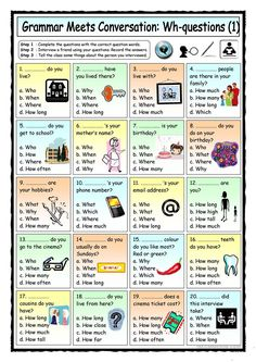 Grammar Meets Conversation: Wh-questions (1) - Getting To Know You