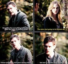 Caroline and Klaus banter. Klaroline love! The Vampire Diaries. TVD quotes.