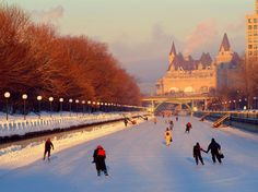 At nearly five miles long, the Rideau Canal Skateway is the world's largest naturally frozen ice rink. A skate down this spot will take you past some of Ottawa's most iconic landmarks. Weather permitting, the skateway is open January through March. During the winter season, booths along the banks of the canal sell everything from snacks and hot cocoa to blade-sharpening services. —Lauren KilbergRead more: 7 Postcard-Perfect Outdoor Ice Skating Rinks