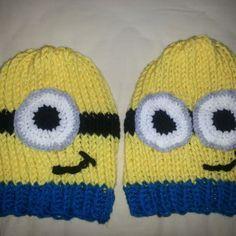 Loom Knit Minion Hats