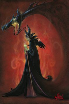 James C Mulligan The Dragon Within From The Movie Sleeping Beauty Hand-Embellished Giclee on Canvas Disney Fine Art Sleeping Beauty Maleficent, Disney Sleeping Beauty, Maleficent Art, Maleficent Dragon, Disney Love, Disney Magic, Disney Stuff, Disney And Dreamworks, Disney Pixar