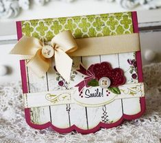 Christmas Smile card by Melissa Phillips for Papertrey Ink (September 2011).