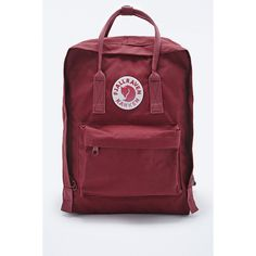 Fjallraven Kanken Classic Ox Red Backpack (1 150 SEK) ❤ liked on Polyvore  featuring 30249163fb7dc