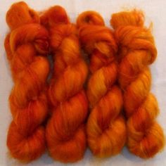 100% Mohair Roving Sassafras Leaves by IronOakFarm on Etsy