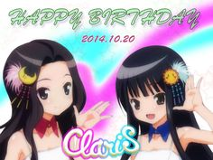 "20/OCT is ClariS's BIRTHDAY ! = 1st single ""irony"" released in 20/oct 2010"