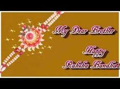 Happy Raksha Bandhan greeting card.