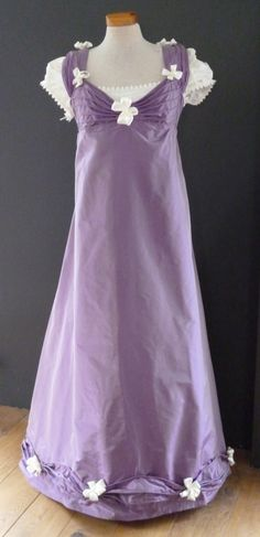 Silk evening gown 1812 (replica). Made by Corina van der Linden  - Crien-oline.