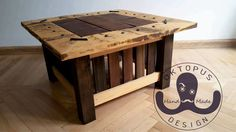 Colonial Collection. Small coffee table made from scrap wood.