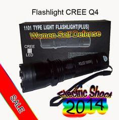 Flashlight led crreQ4 1101  Newest Model Electric Shock Self Defense