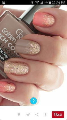 #nude #glamour #gold #pastel #glitter