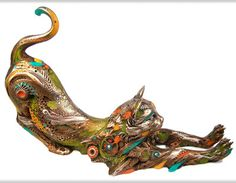 Nano Lopez Gatin - Cat Bronze Sculpture