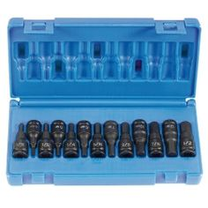 """13 PC 3/8"""" DR FRACTIONAL & METRIC HEX DRIVER SET"""