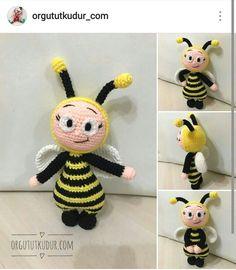 Amigurumi örgü arı bonnie