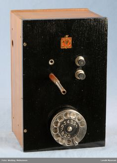 DigitaltMuseum - Telefonutstyr Telephone, Landline Phone, Phone, Phones