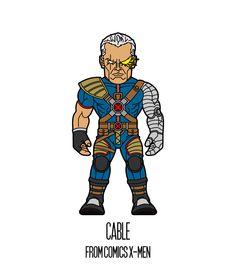 CABLE  http://herosandvillains.tumblr.com/post/12234717371 by TM