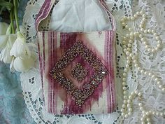 COUTURE  Hand Made Mini PURSE with Sparkling Bead by BUTTERCUPMOM, $10.00