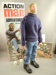 ACTION MAN - 40th ADVENTURER with Blonde Beard & Gripping Hands BOXED