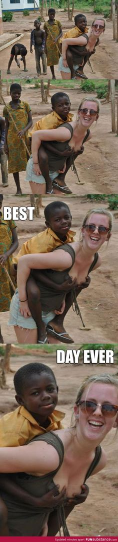 Black kid knows what to do