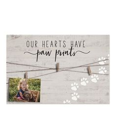 This Tan 'Paw Prints' Photo-Clip Wall Sign is perfect! #zulilyfinds