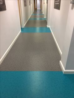 Vinyl flooring supplied by ForboUK for Sheffield Uni corridors